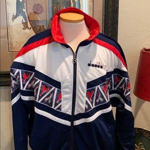 Vintage Diadora warm up jacket